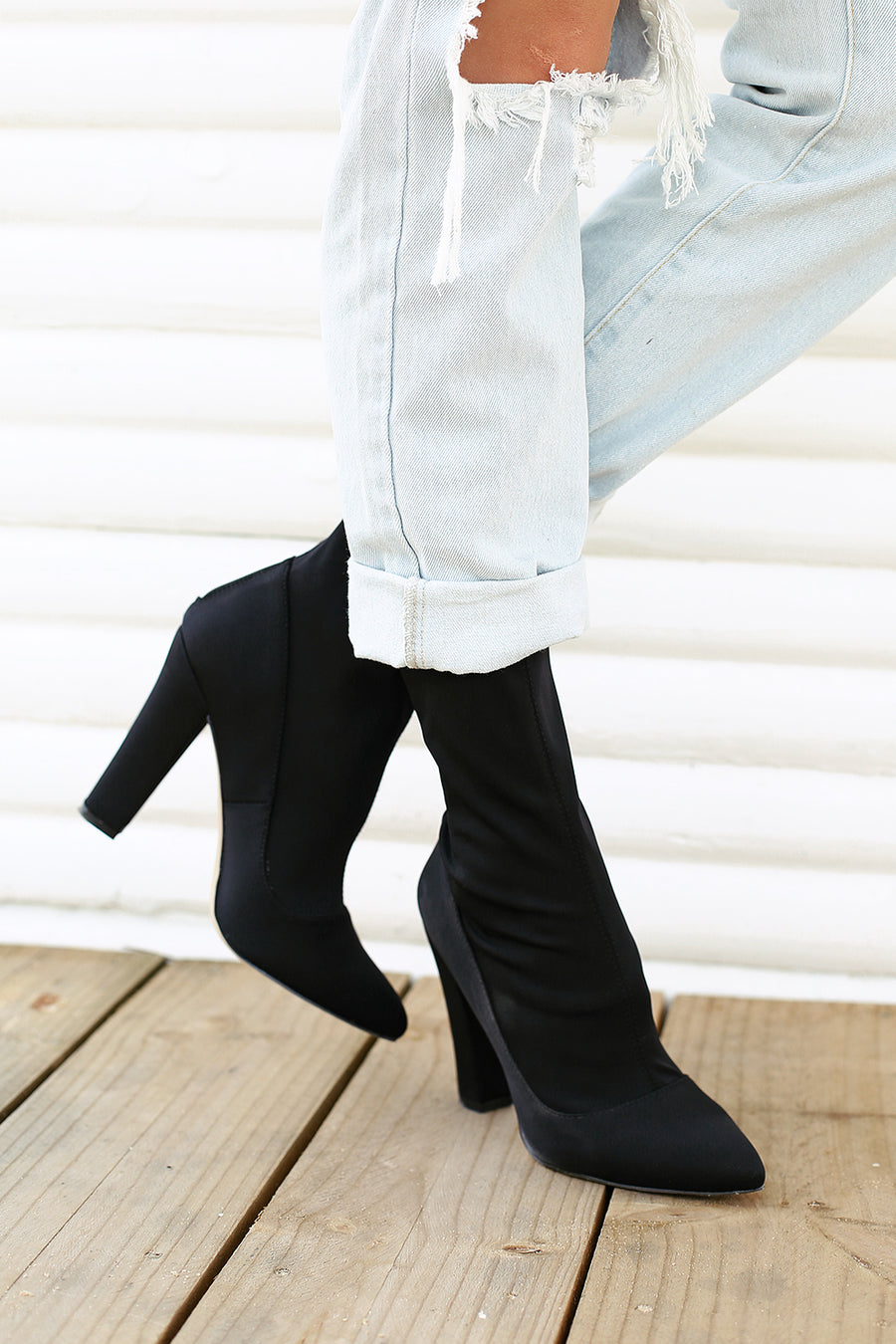 Ibby Black Neoprene Boots by Verali - HER Empire Fashion Boutique Terrigal & Online