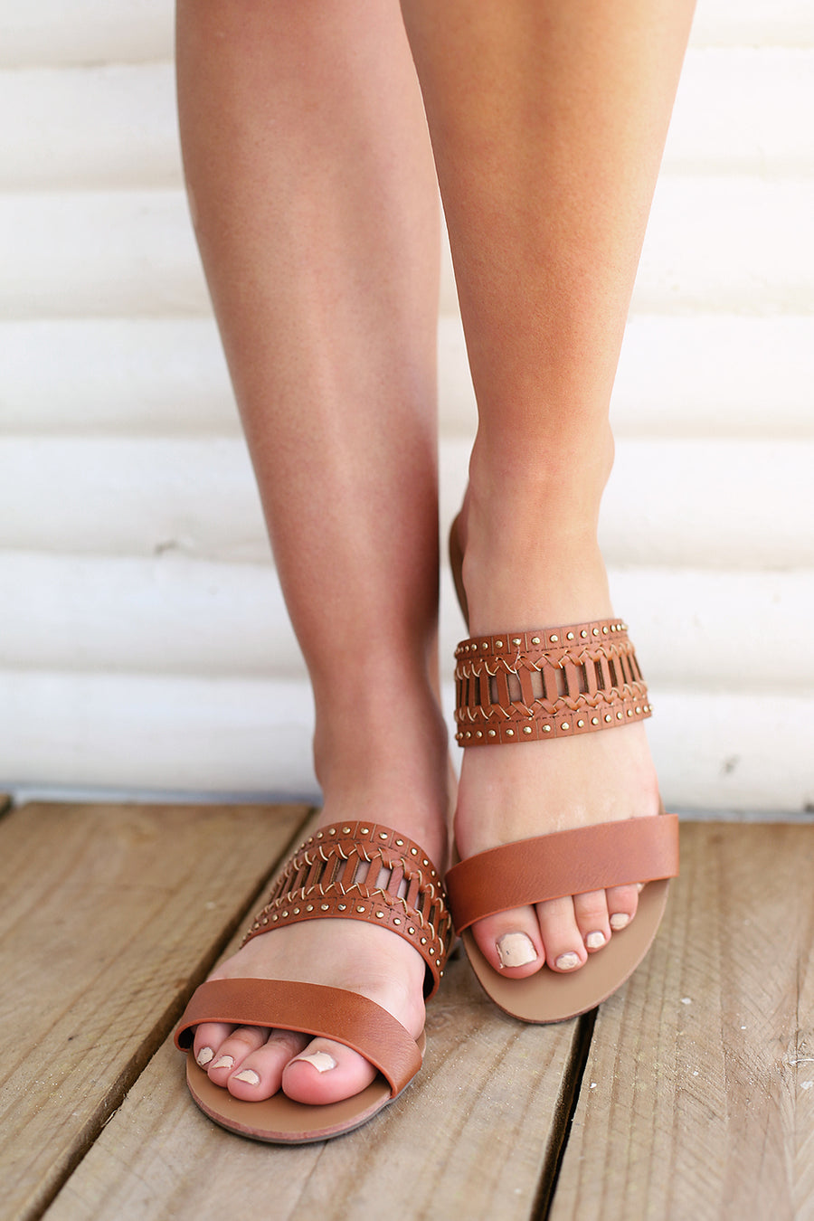 Bali Sandals - Tan Kid - By Verali - HER Empire Fashion Boutique Terrigal & Online
