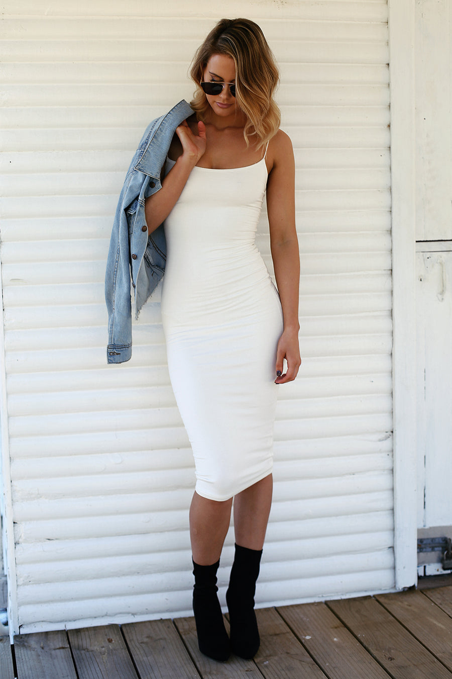 Kimmy K Slip Dress in White - HER Empire Fashion Boutique Terrigal & Online