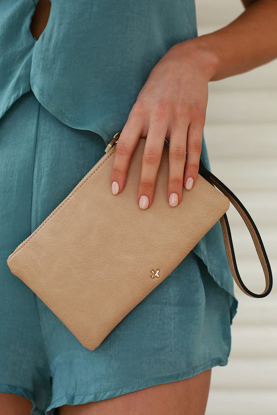 Bella Clutch in Nude for $39.95