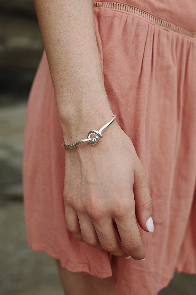 Love Knot Bangle in Silver