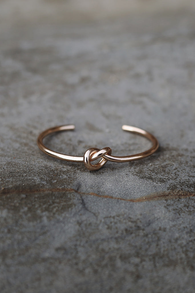 Love Knot Bangle in Gold - HER Empire Fashion Boutique Terrigal & Online