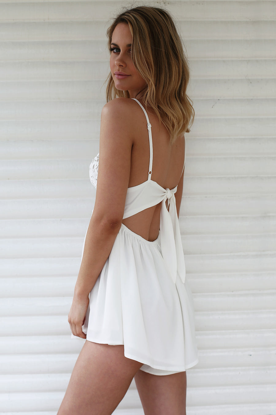 Love Story Playsuit in White