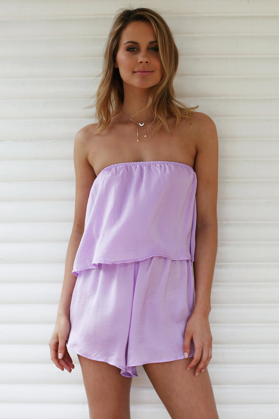 Flirt With Fire Playsuit in Lilac