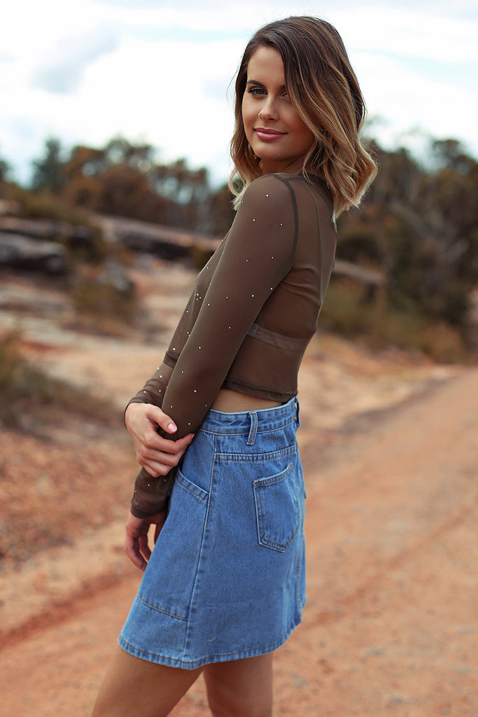 The Cure Skirt in Light Denim