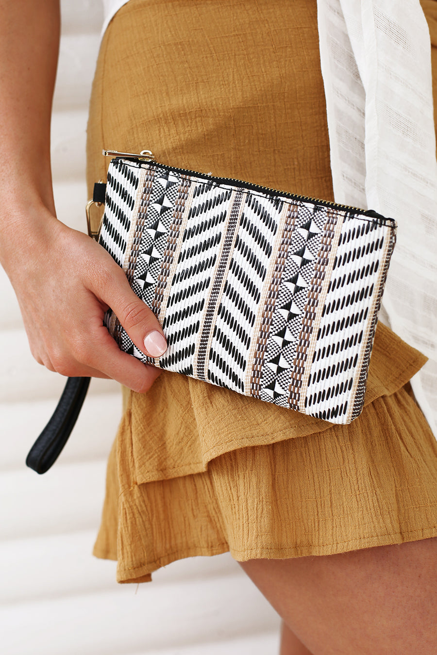 Bella Clutch in Black Multi - HER Empire Fashion Boutique Terrigal & Online