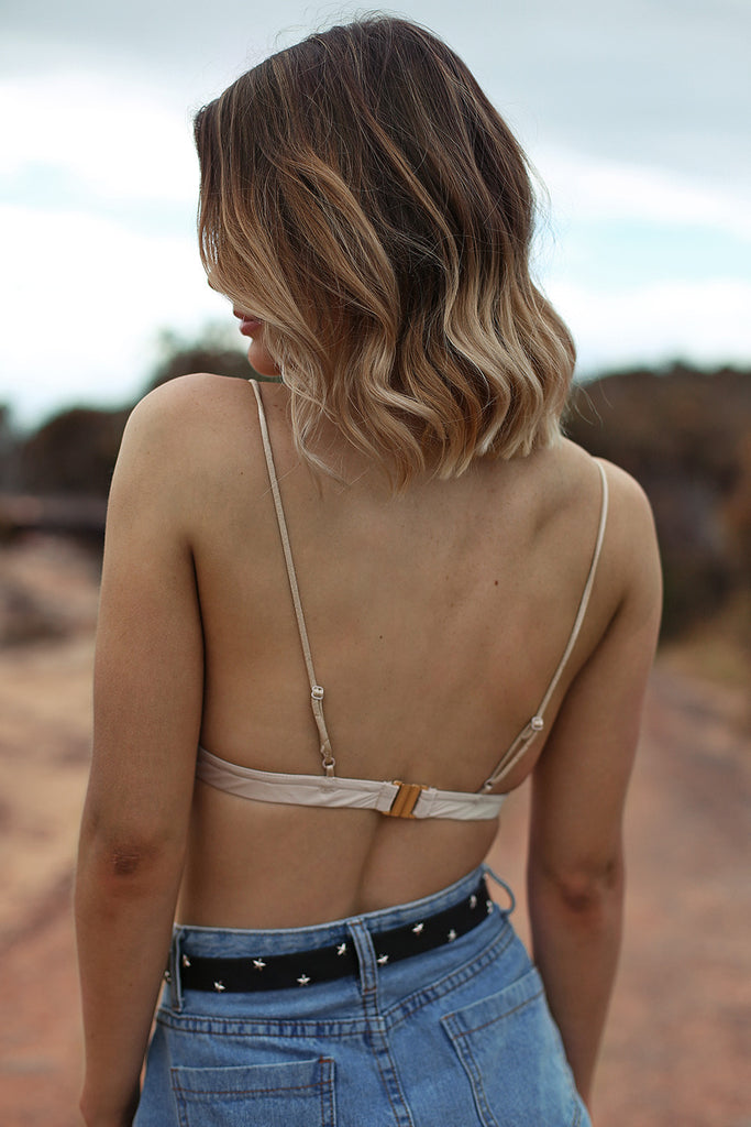 New Lovers Bralette in Beige - HER Empire Fashion Boutique Terrigal & Online