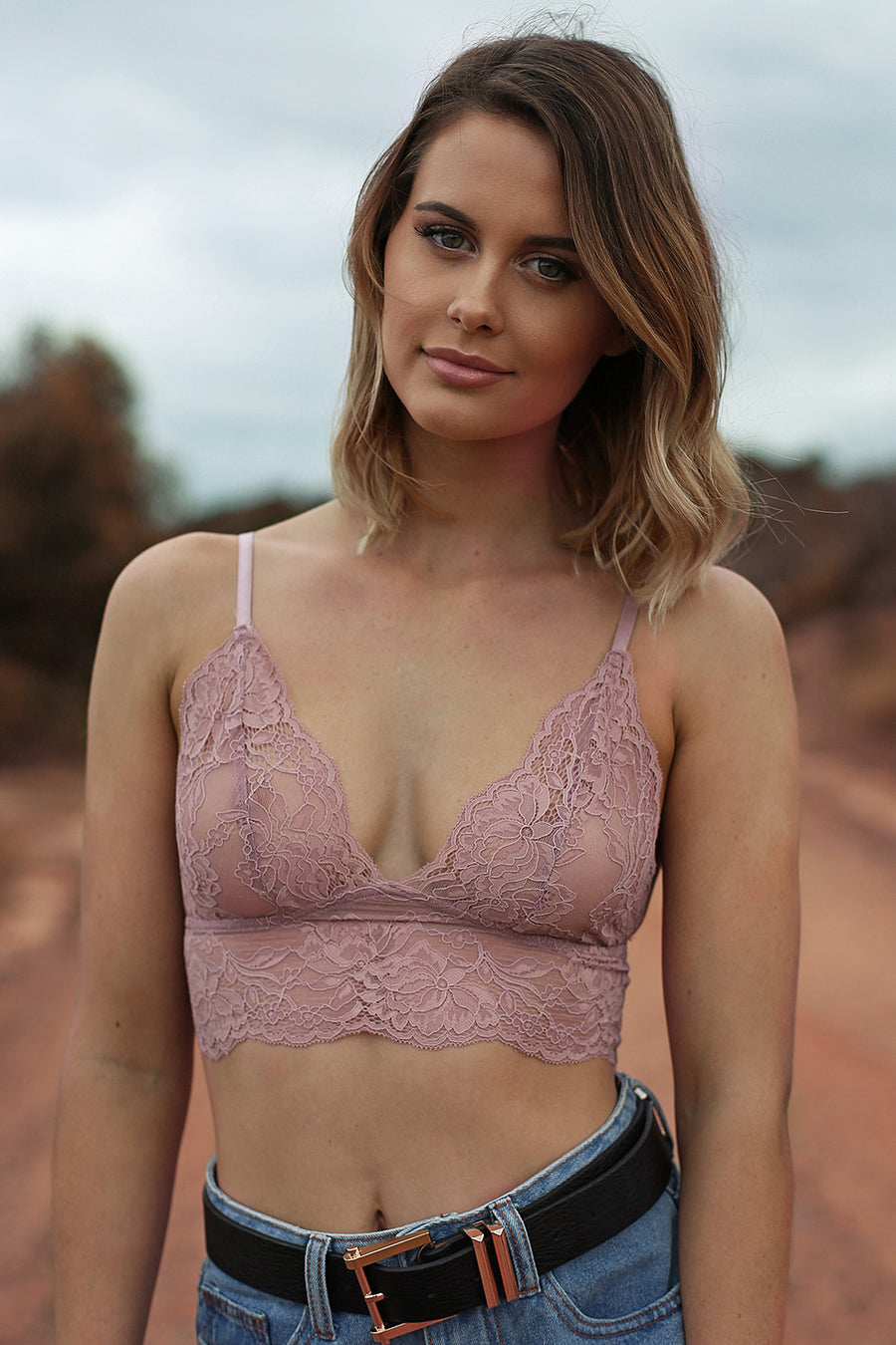 21 Lies Lace Bralette in Blush