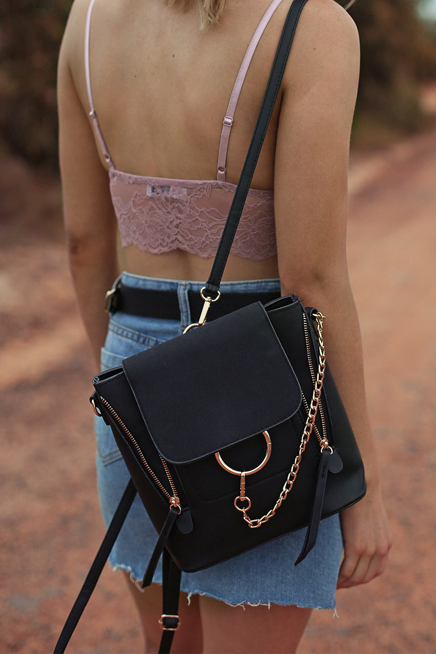 Alexa Chain Bag in Onyx - HER Empire Fashion Boutique Terrigal & Online