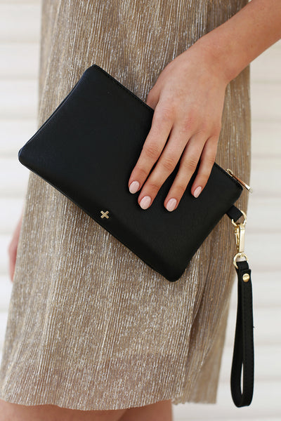Bella Clutch in Black - HER Empire Fashion Boutique Terrigal & Online