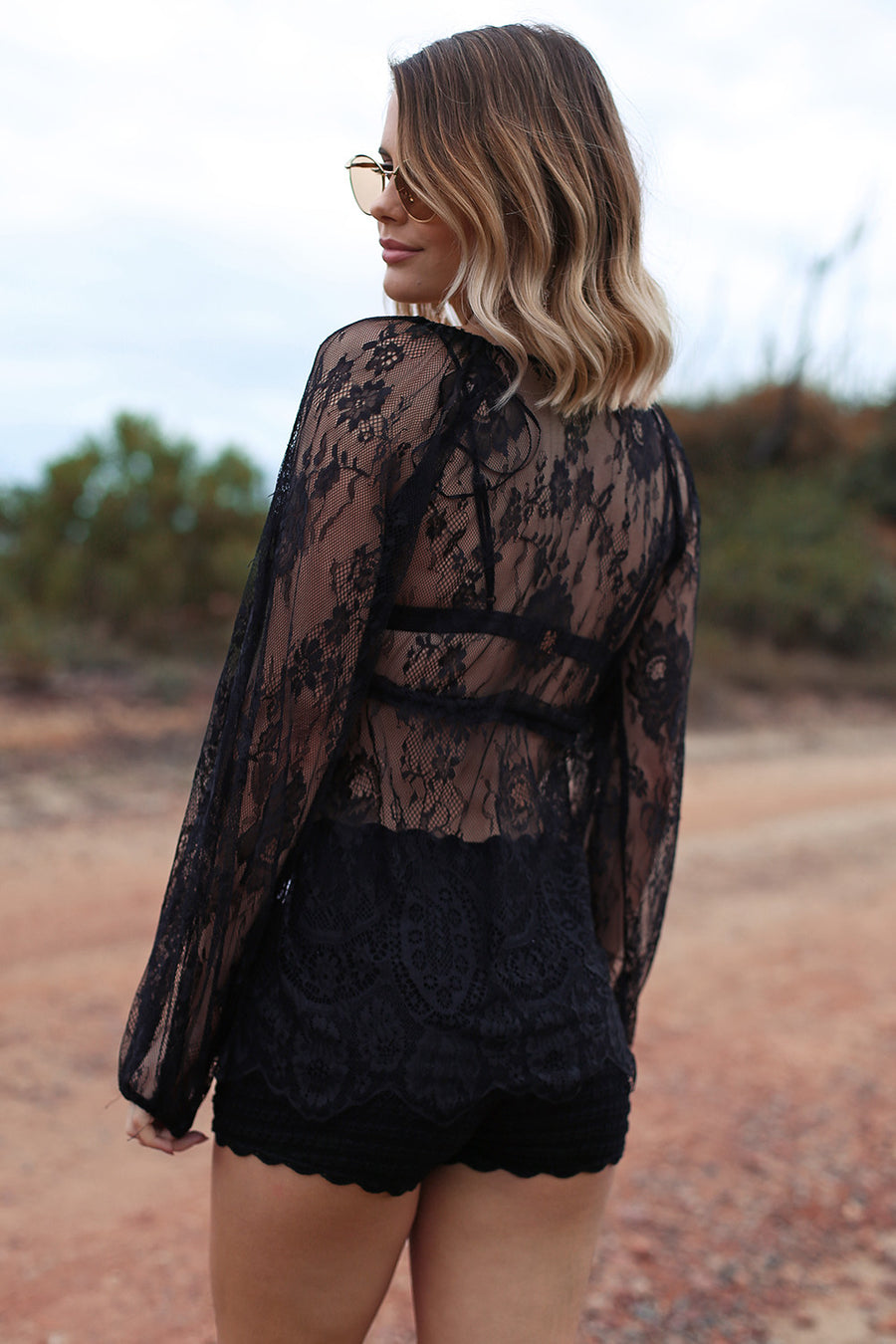 Dark Angel Lace Top - HER Empire Fashion Boutique Terrigal & Online