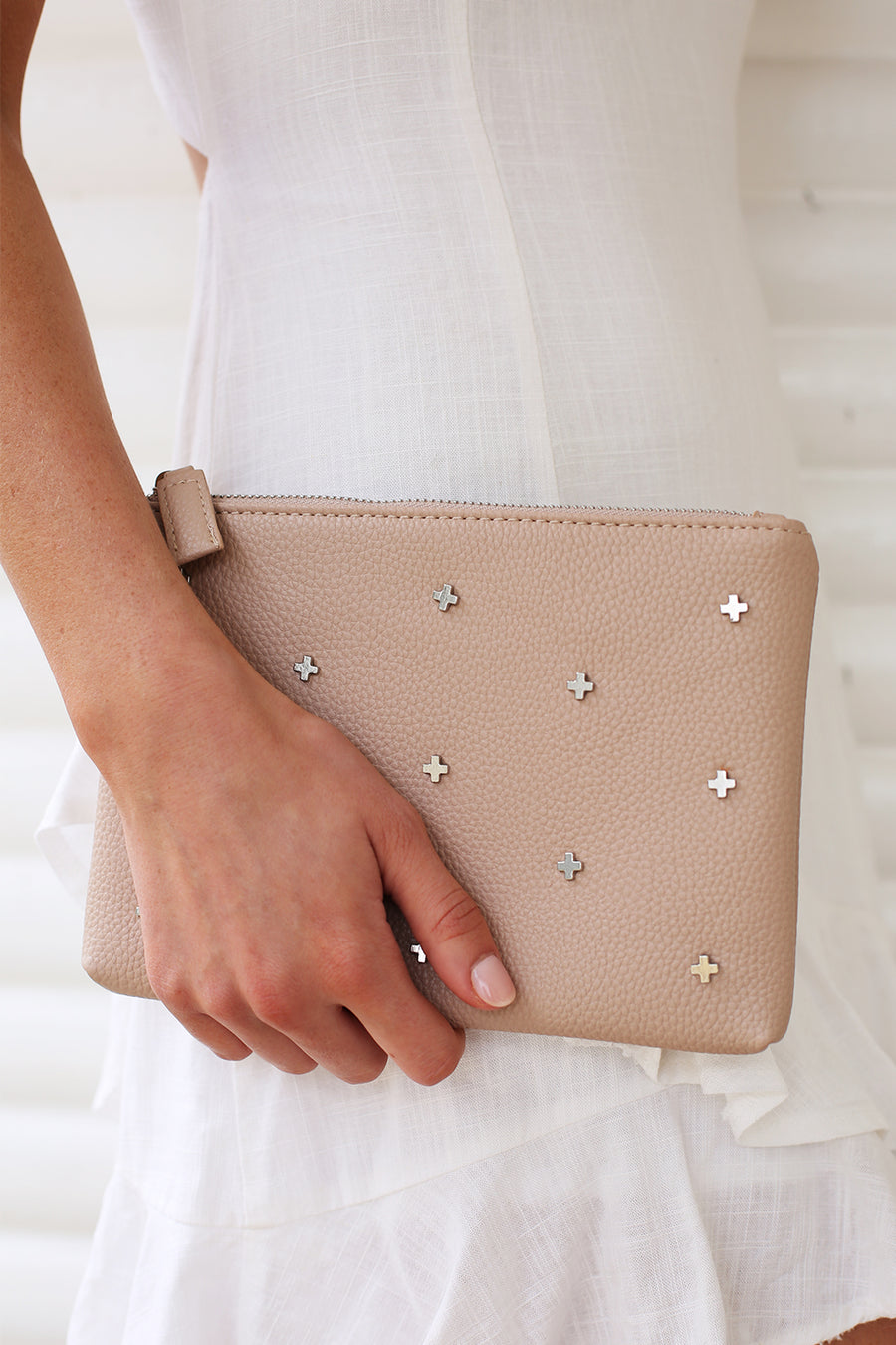 Kendall Clutch in Nude