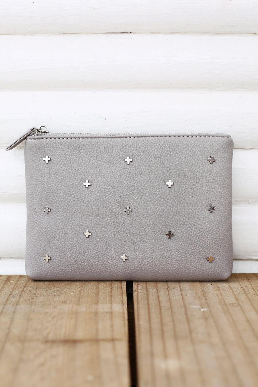 Kendall Clutch in Grey
