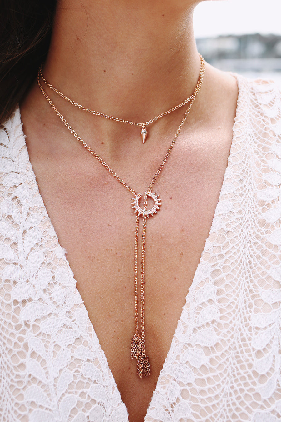 Summer Necklace in Rose Gold