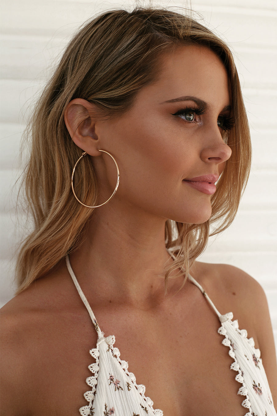 Big City Hoop Earrings in Gold - HER Empire Fashion Boutique Terrigal & Online