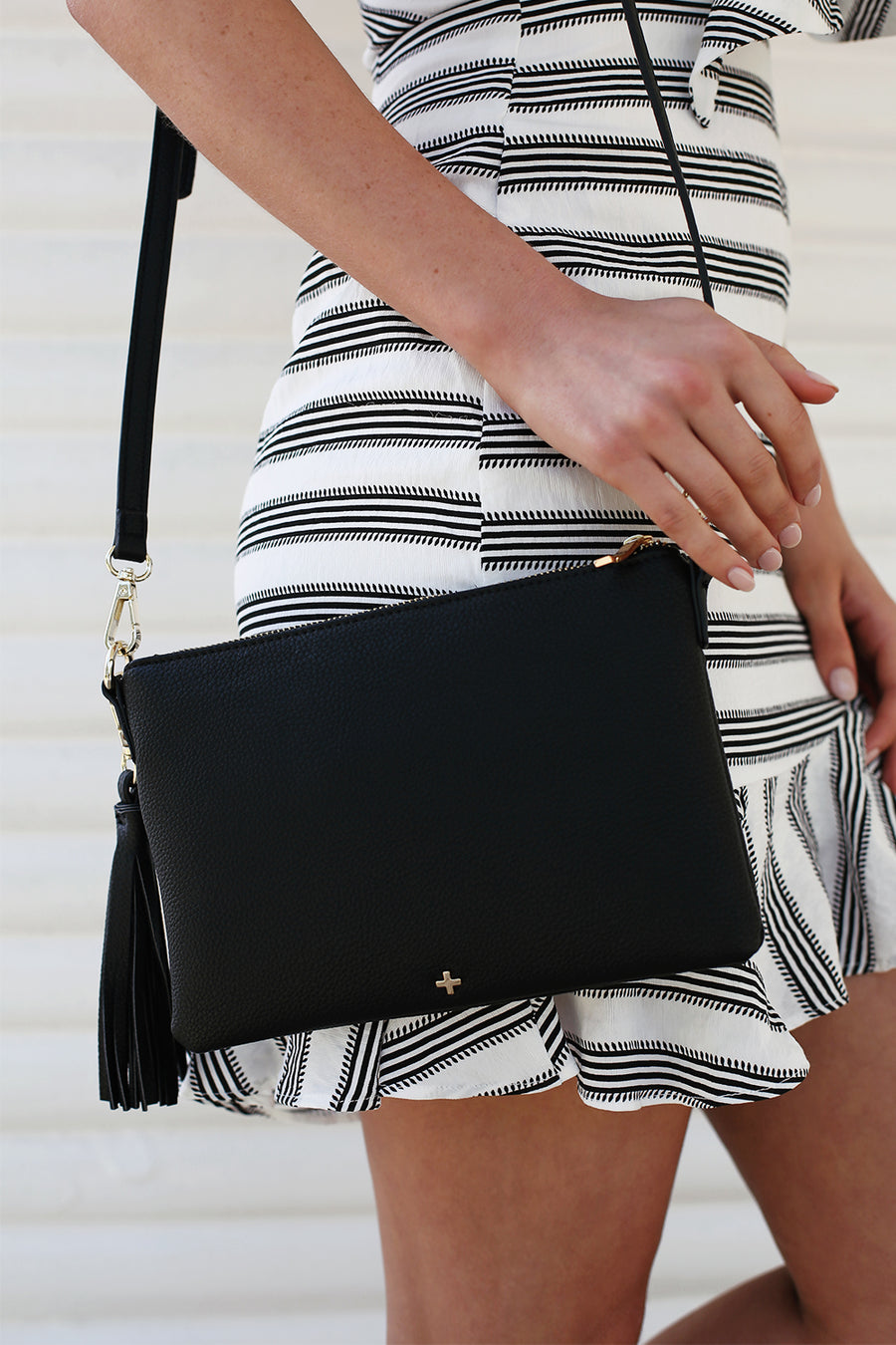Kourtney Clutch in Black