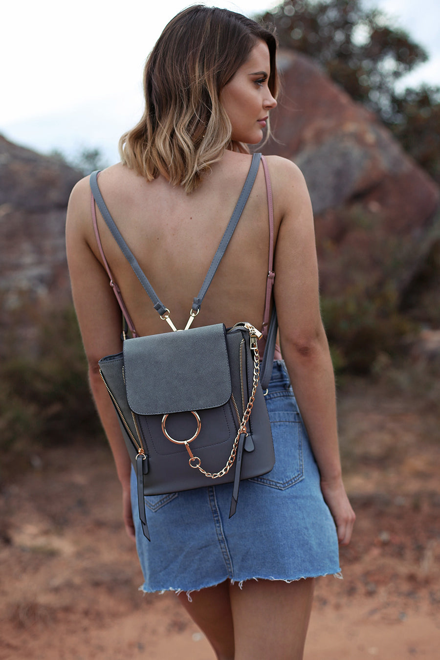 Alexa Chain Bag in Ash - HER Empire Fashion Boutique Terrigal & Online