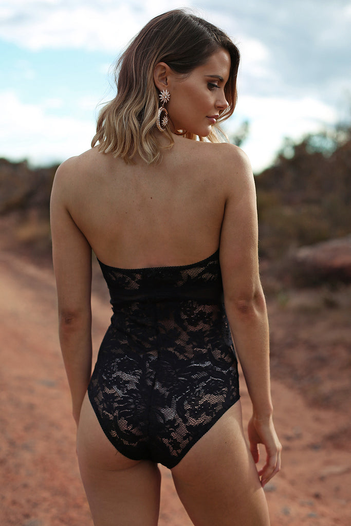 Desert Queen Bodysuit in Black