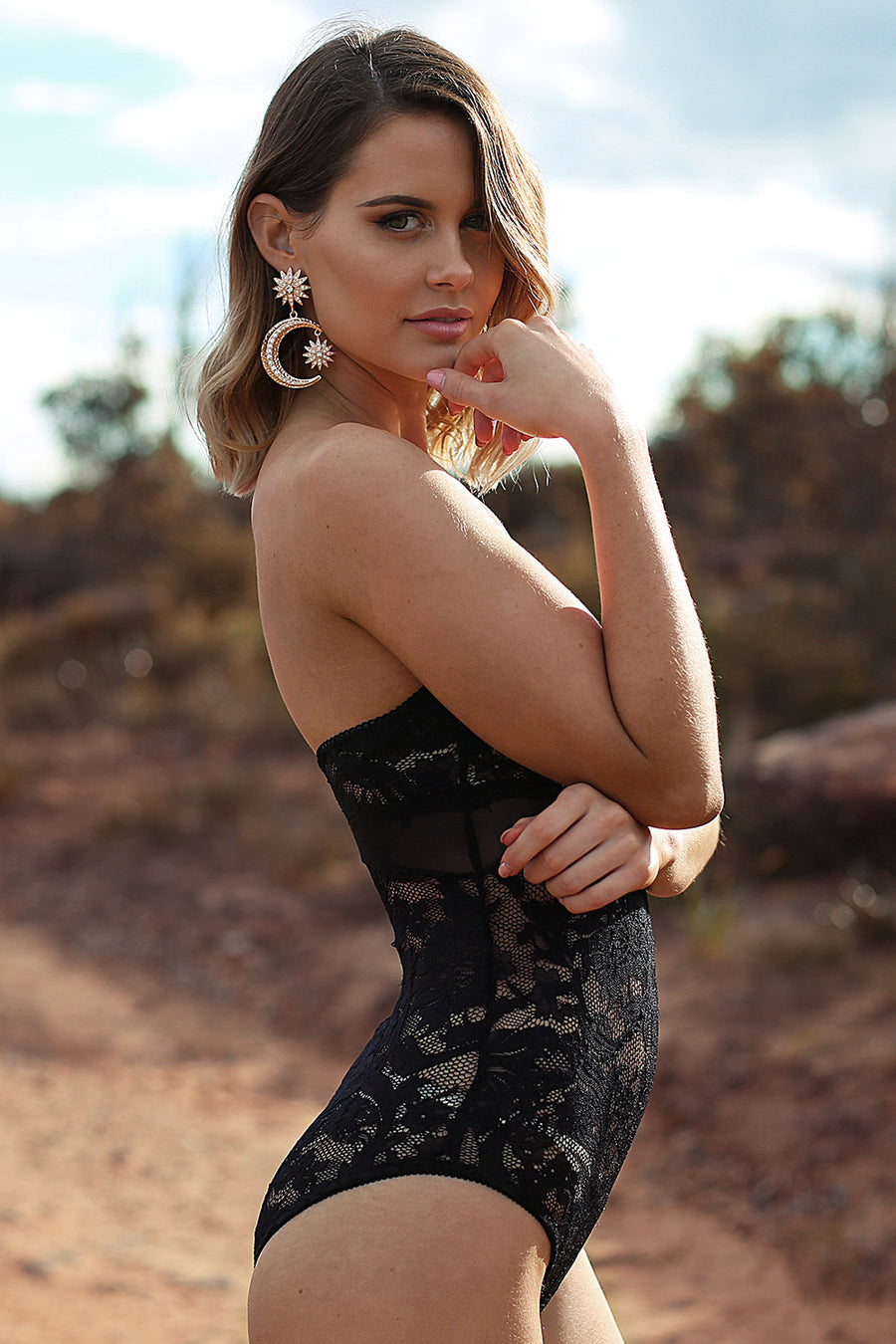 Desert Queen Bodysuit in Black - HER Empire Fashion Boutique Terrigal & Online