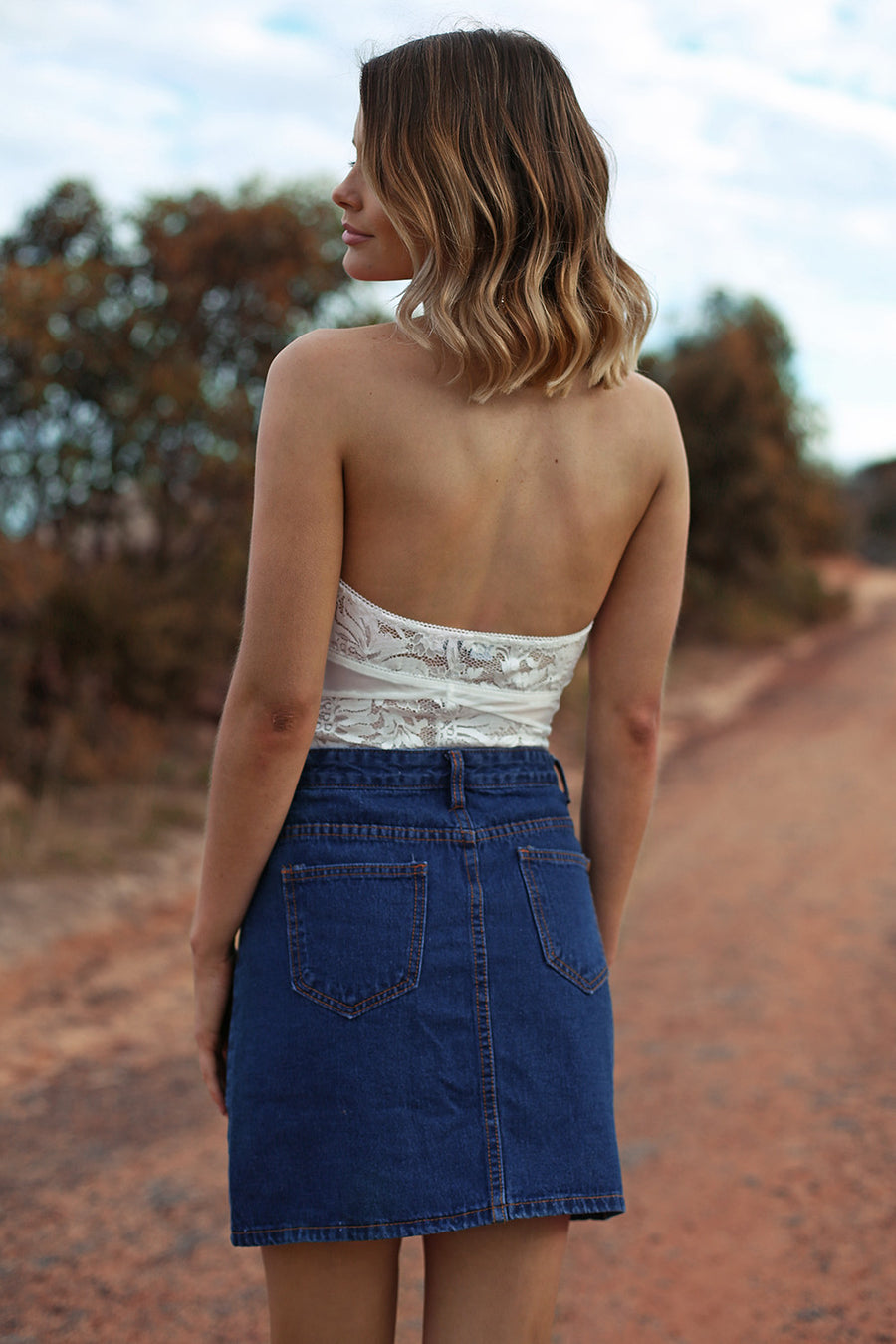 The Cure Skirt in Dark Denim - HER Empire Fashion Boutique Terrigal & Online