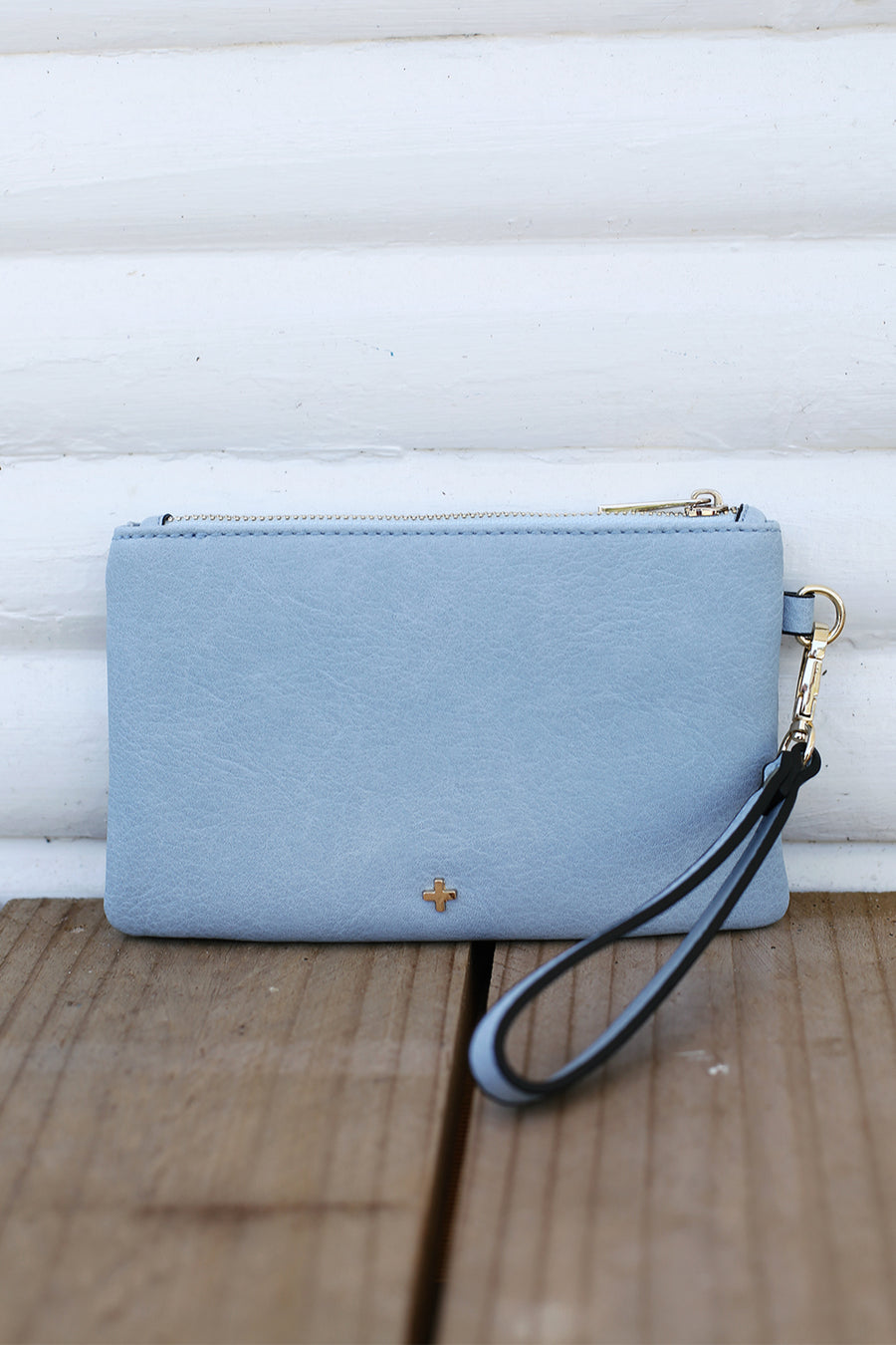Bella Clutch in Powder Blue