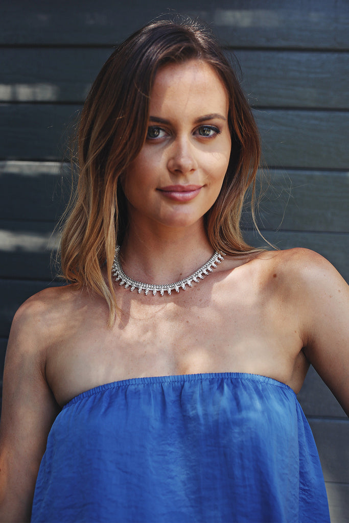 Sienna Choker in Silver - HER Empire Fashion Boutique Terrigal & Online