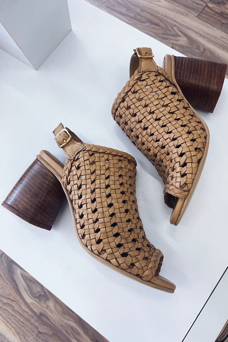 Daffy Woven Leather Heel - HER Empire Fashion Boutique Terrigal & Online