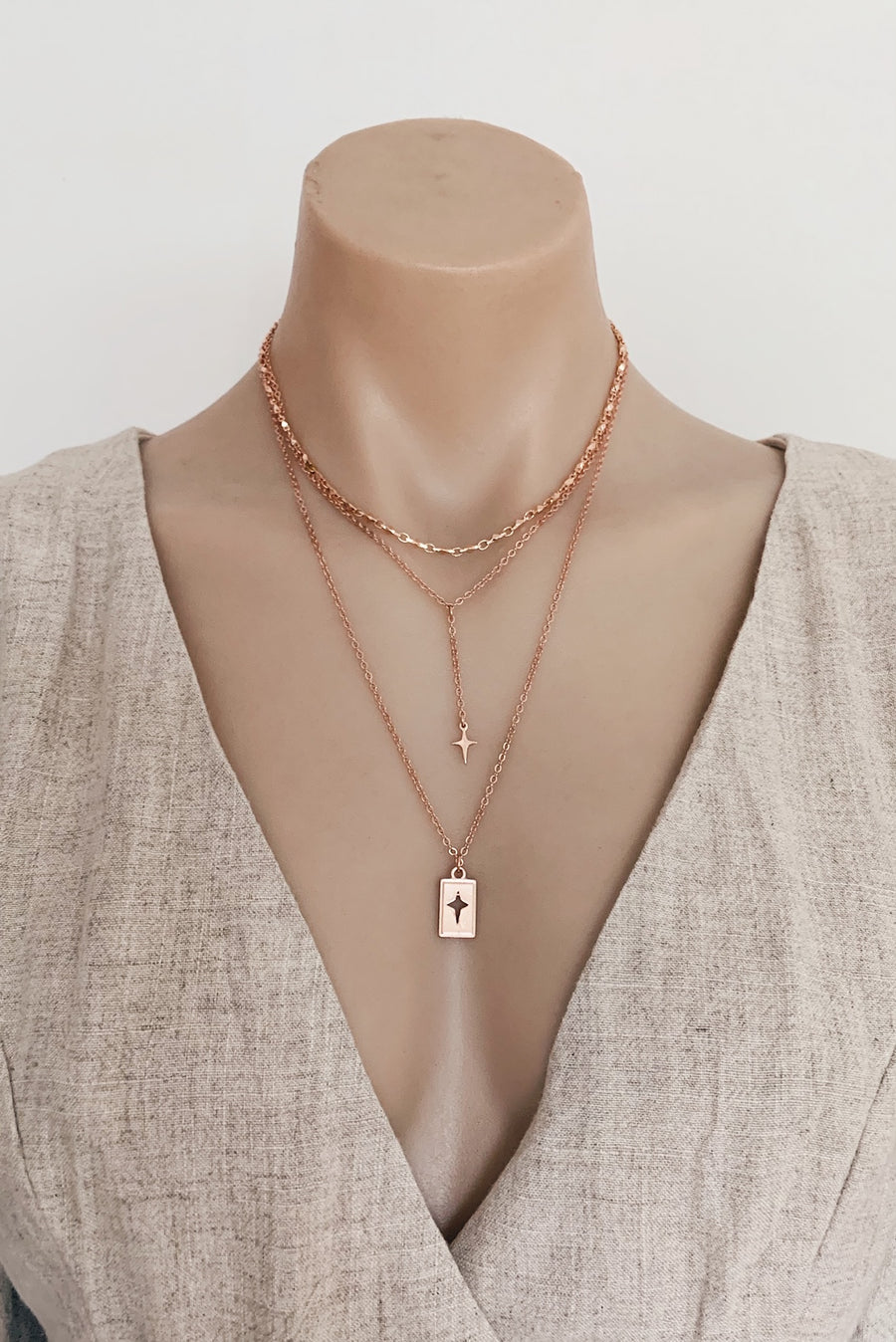 Daegan Necklace in Rose Gold