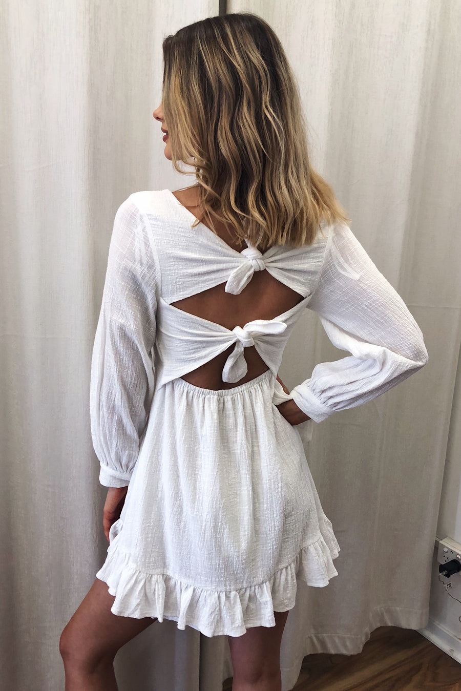 Knot So Sweet Dress in White