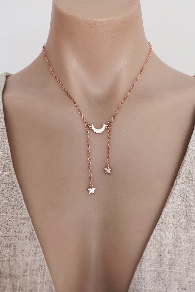 Kalisi Necklace in Rose Gold for $29.00