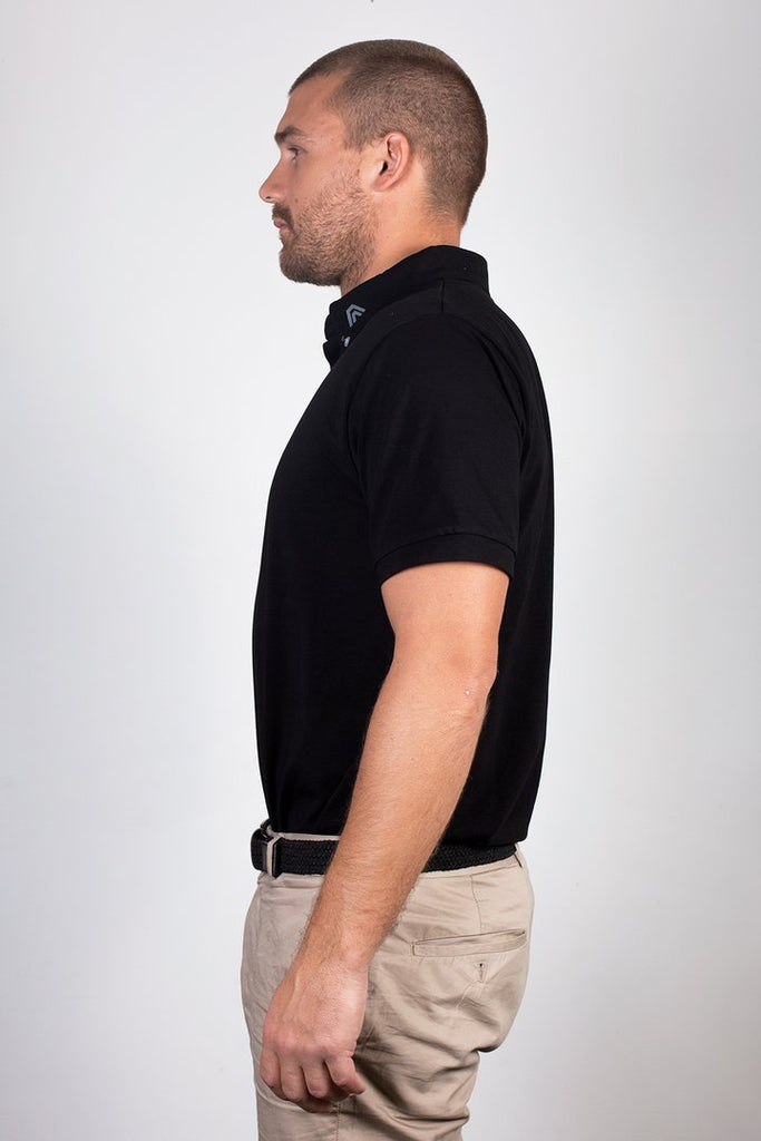 ACES Original Midnight Black Polo Shirt - HER Empire Fashion Boutique Terrigal & Online