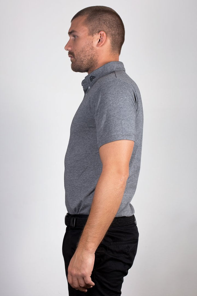 ACES Original Granite Grey Polo Shirt - HER Empire Fashion Boutique Terrigal & Online