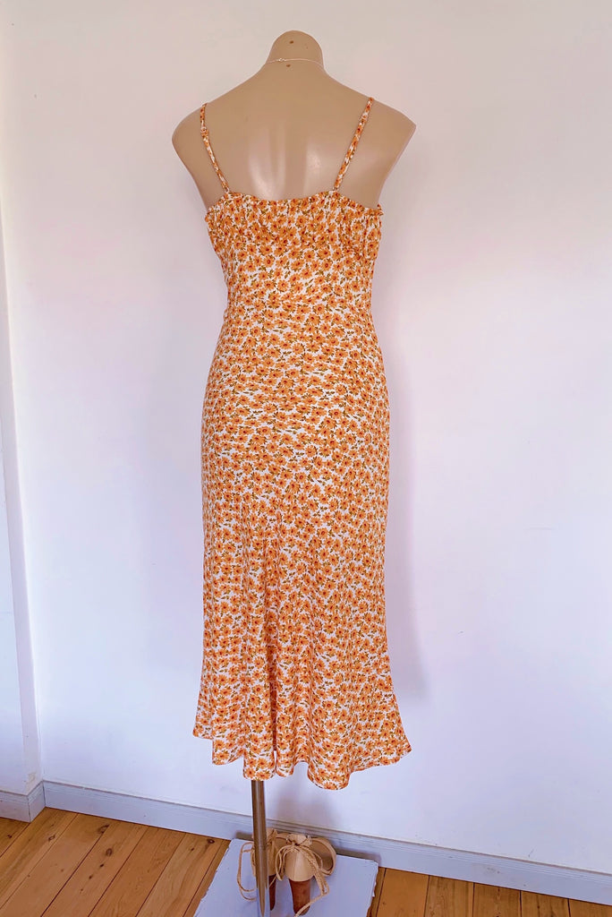 Bethany Midi Dress in Orange - HER Empire Fashion Boutique Terrigal & Online