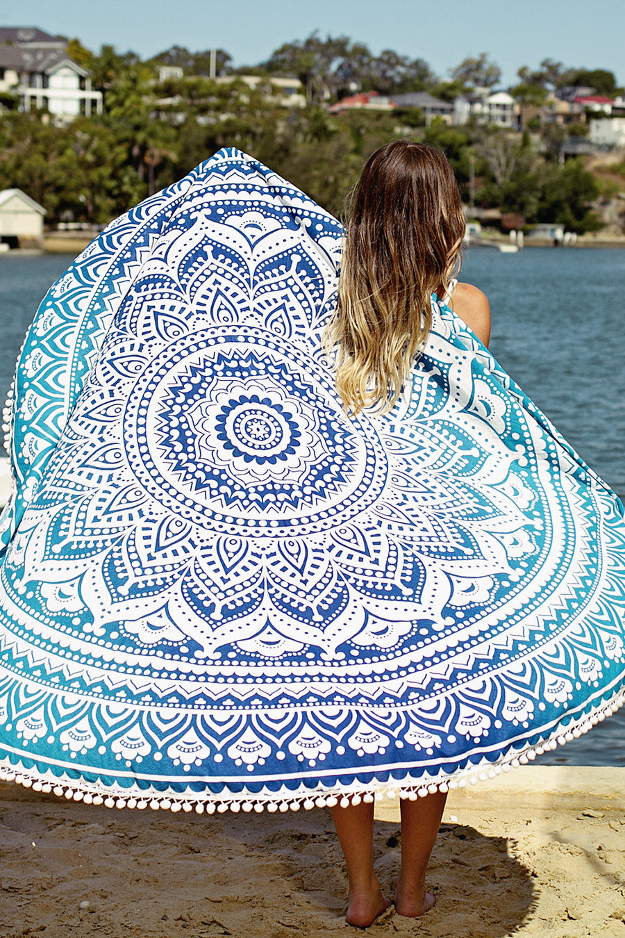 Kiss The Sky Roundie Mandala Throw