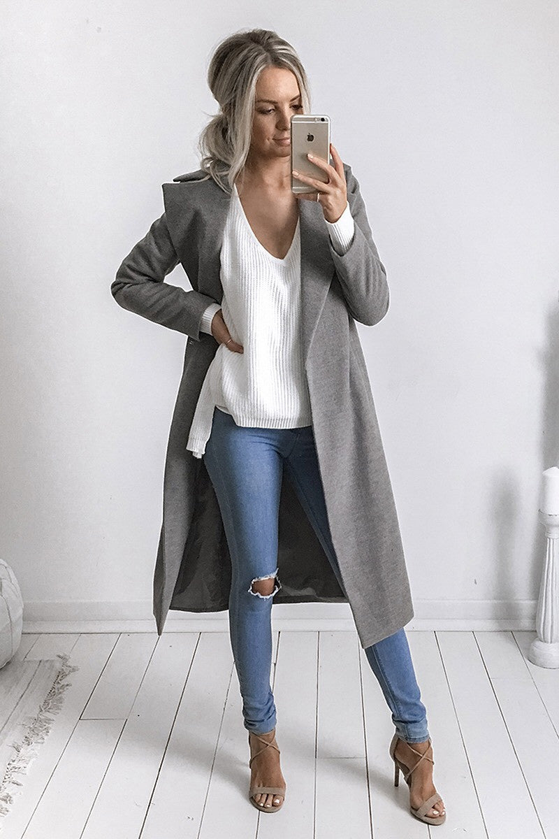 Harlem Coat in Grey - HER Empire Fashion Boutique Terrigal & Online