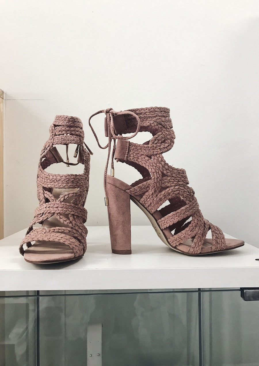 Jersey Heels - Blush Suede - HER Empire Fashion Boutique Terrigal & Online