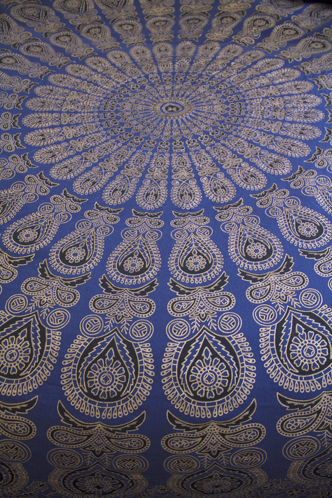 Metallic Magic Mandala Throw