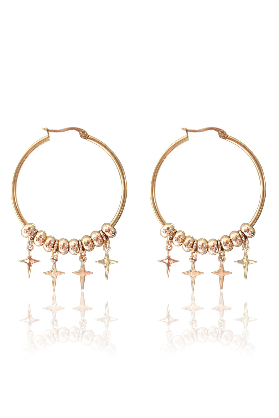 Jasmine - Large Hoop Earrings