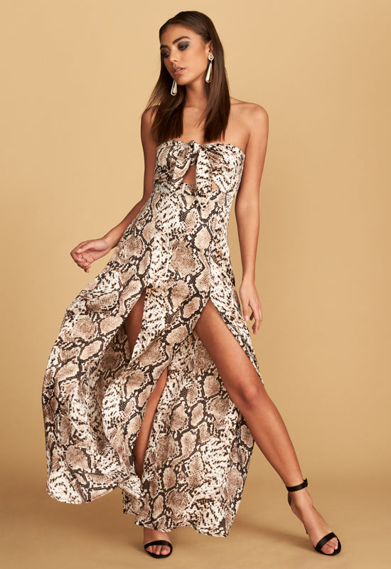 The Adrianne Strapless Maxi Dress for $49.00