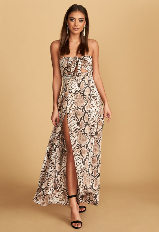The Adrianne Strapless Maxi Dress