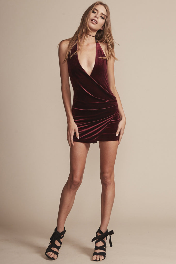Atlantic City Dress in Wine - HER Empire Fashion Boutique Terrigal & Online