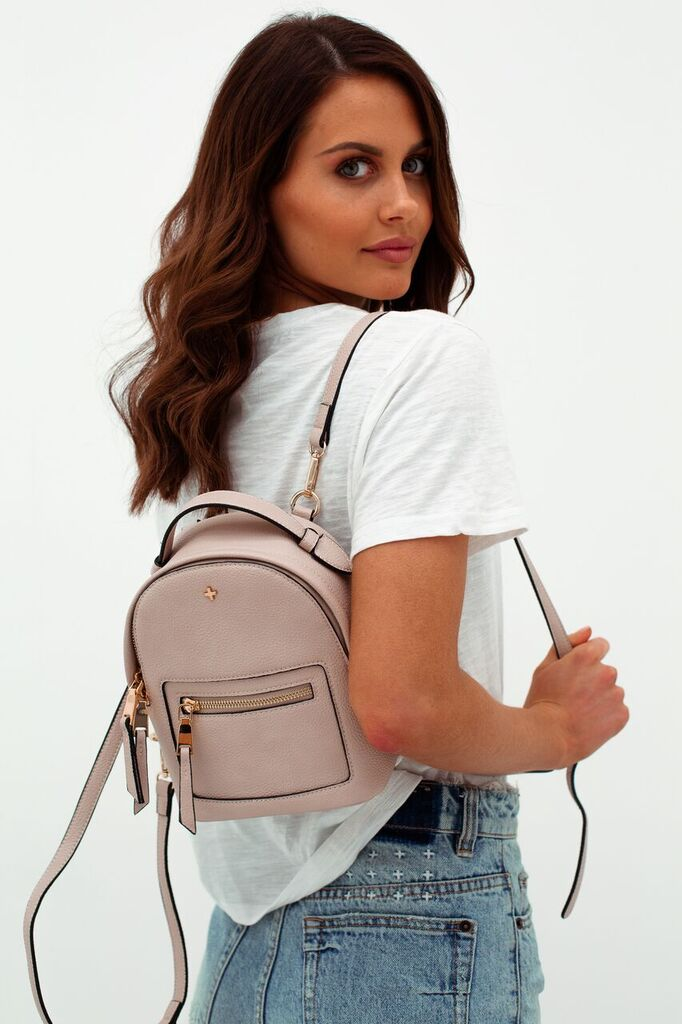 Zoe Mini Backpack in Nude