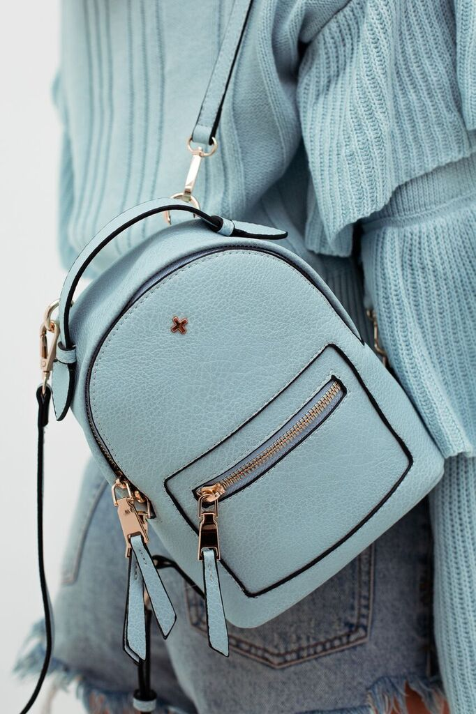 Zoe Mini Backpack in Pastel Blue