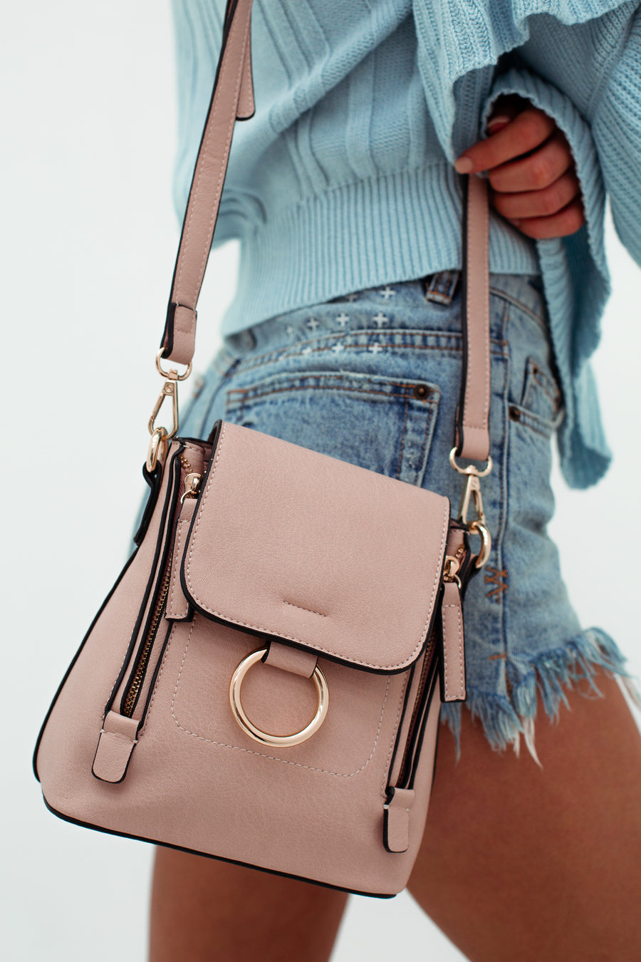 Kiki Bag in Pastel Pink