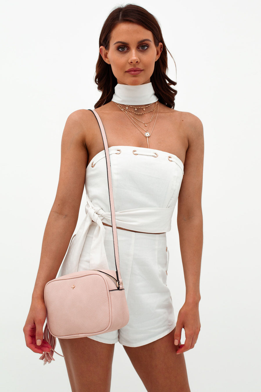 Gracie Bag in Pastel Pink for $69.95