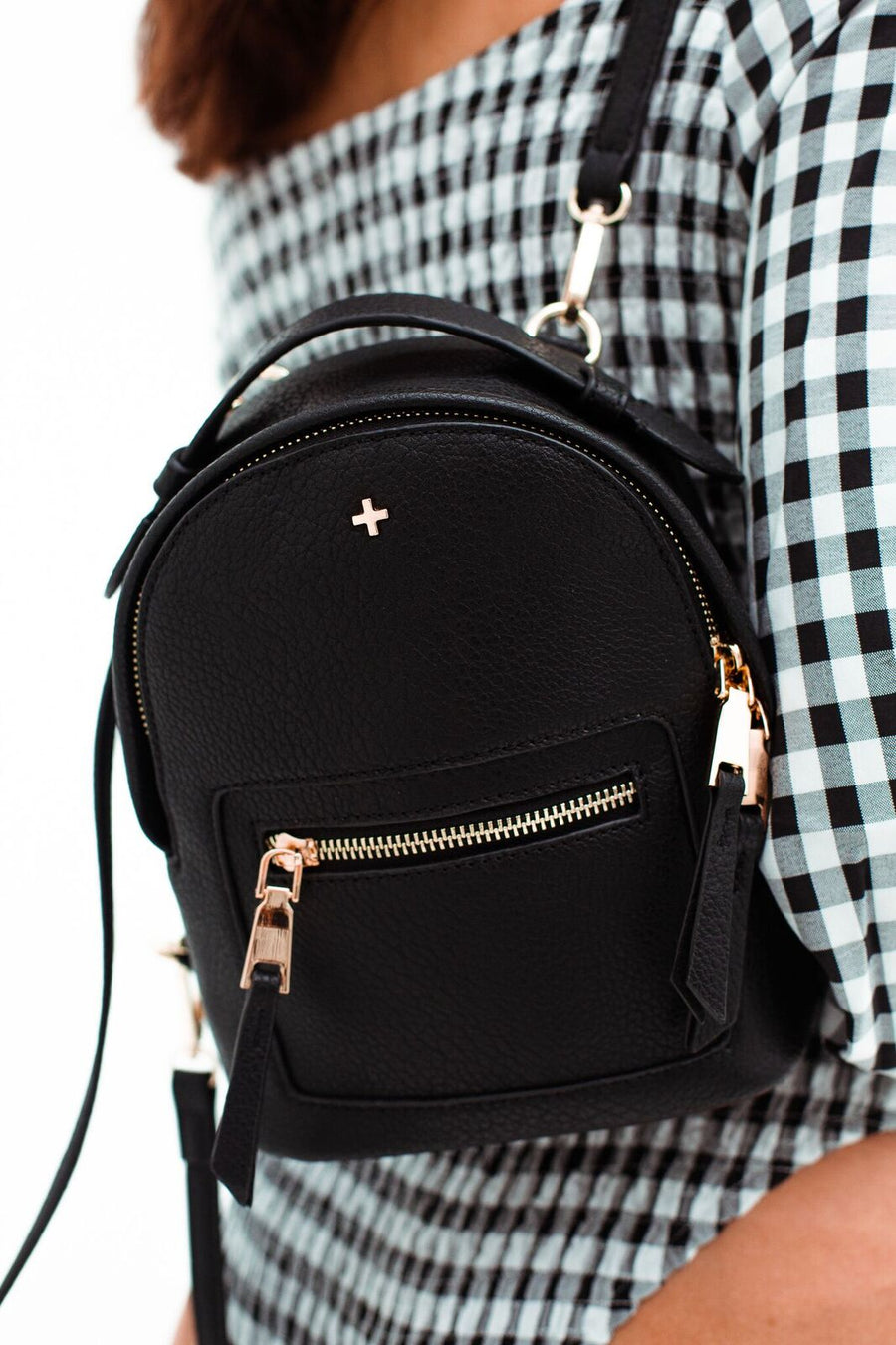 Zoe Mini Backpack in Black