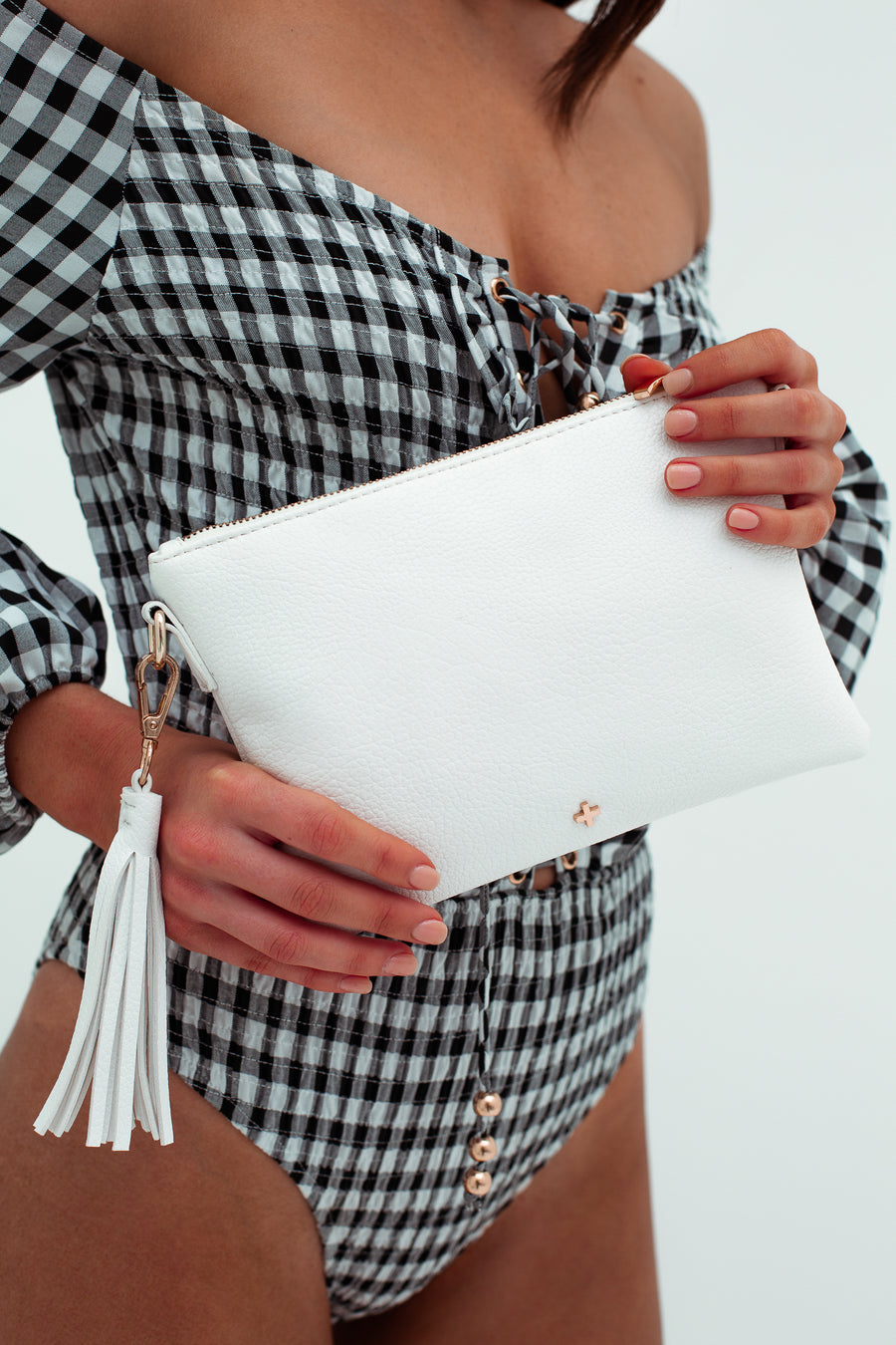 Kourtney Clutch in White
