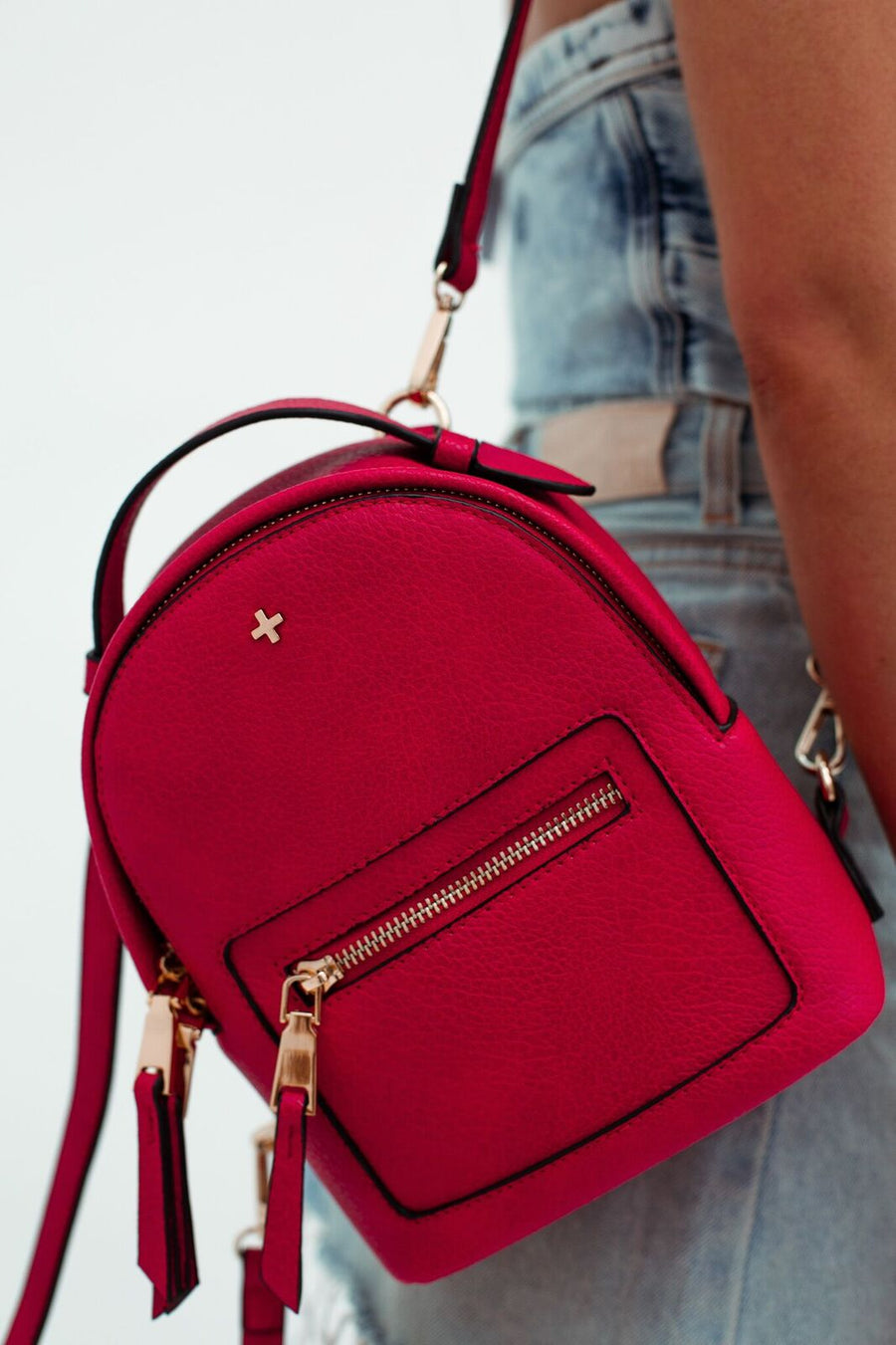 Zoe Mini Backpack in Red