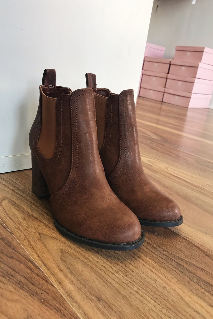 Gia Boot in Chestnut Vintage - HER Empire Fashion Boutique Terrigal & Online