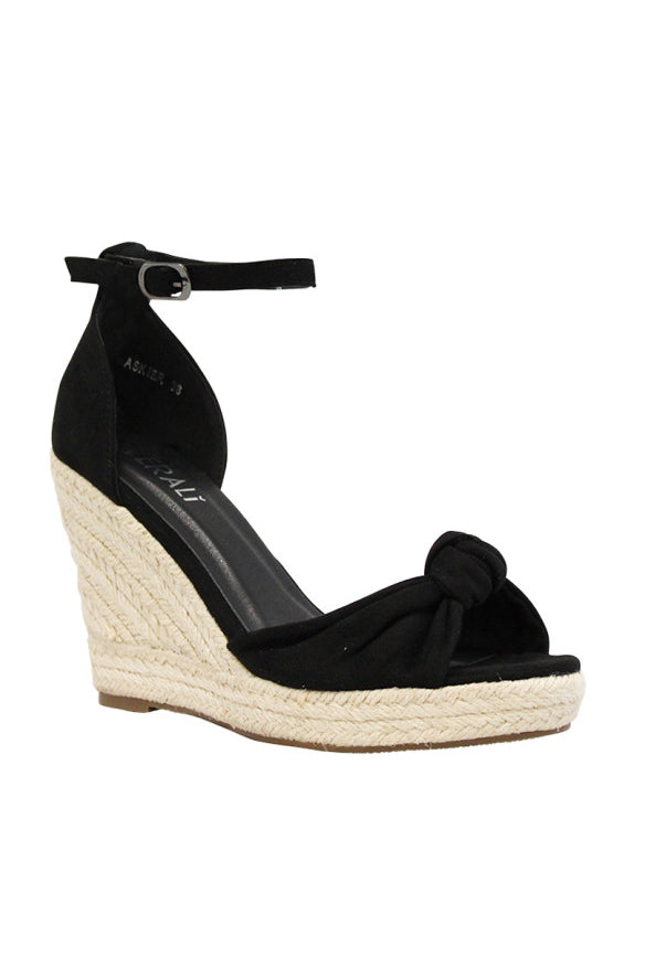 Askier Wedge Heel in Black Micro - HER Empire Fashion Boutique Terrigal & Online